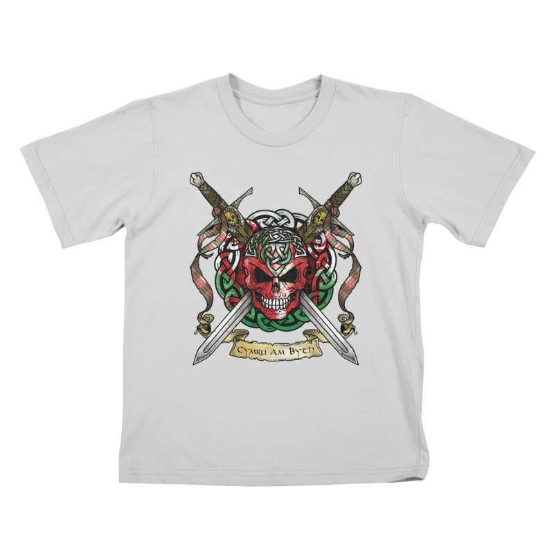 Celtic Warrior: Wales Kids T-Shirt by Celtic Hammer Club