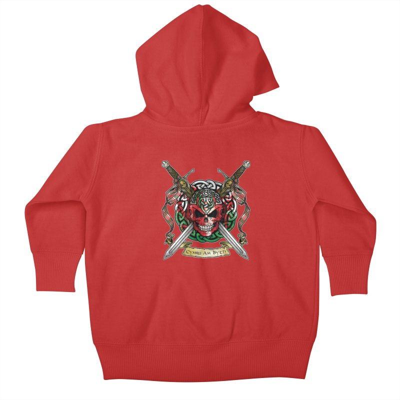 Celtic Warrior: Wales Kids Baby Zip-Up Hoody by Celtic Hammer Club