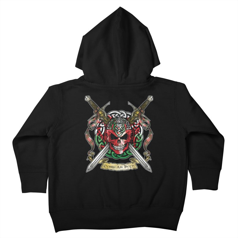Celtic Warrior: Wales Kids Toddler Zip-Up Hoody by Celtic Hammer Club