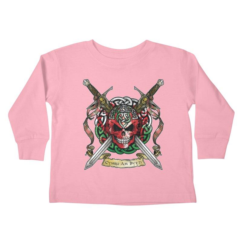 Celtic Warrior: Wales Kids Toddler Longsleeve T-Shirt by Celtic Hammer Club