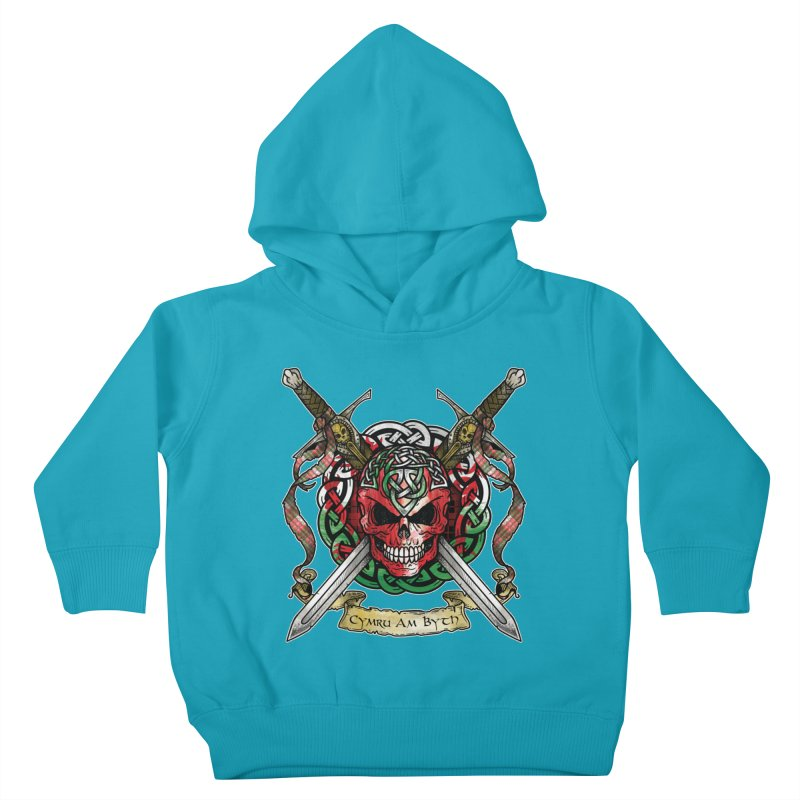 Celtic Warrior: Wales Kids Toddler Pullover Hoody by Celtic Hammer Club