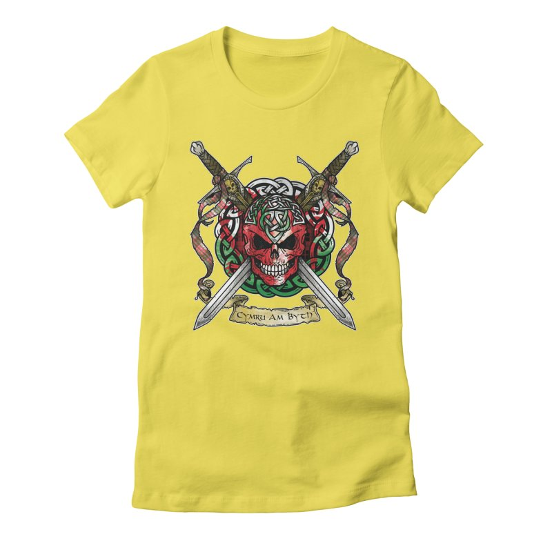 Celtic Warrior: Wales Women's Fitted T-Shirt by Celtic Hammer Club