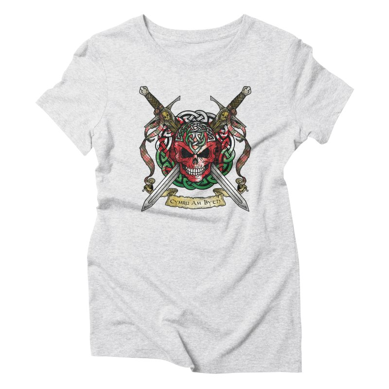 Celtic Warrior: Wales Women's Triblend T-Shirt by Celtic Hammer Club