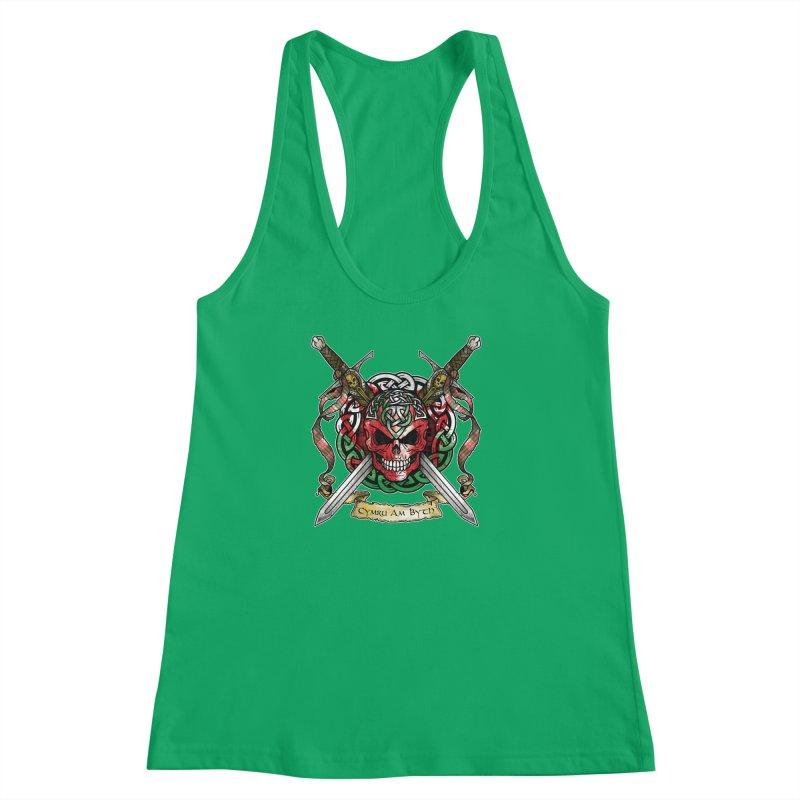 Celtic Warrior: Wales Women's Racerback Tank by Celtic Hammer Club