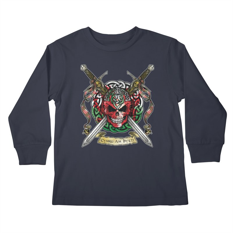 Celtic Warrior: Wales Kids Longsleeve T-Shirt by Celtic Hammer Club