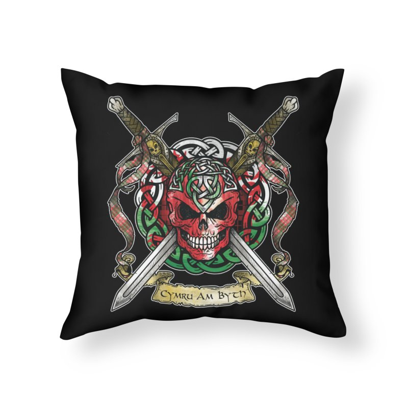 Celtic Warrior: Wales Home Throw Pillow by Celtic Hammer Club