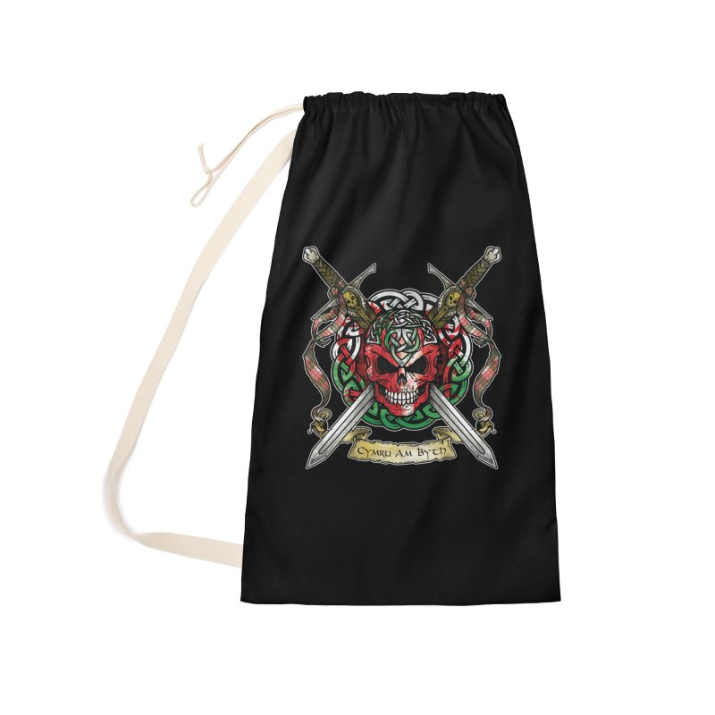 Celtic Warrior: Wales Accessories Laundry Bag Bag by Celtic Hammer Club