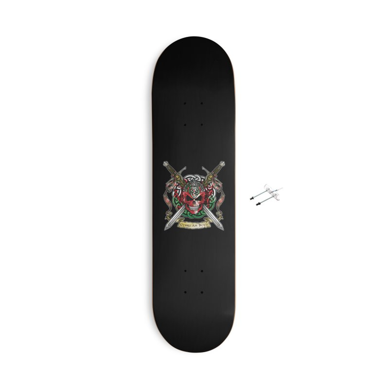 Celtic Warrior: Wales Accessories With Hanging Hardware Skateboard by Celtic Hammer Club