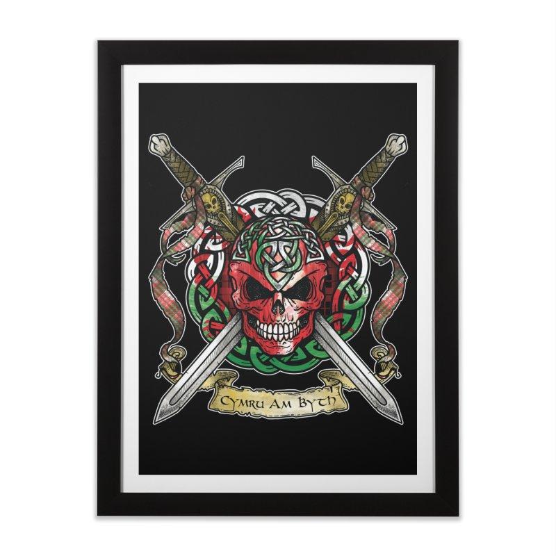 Celtic Warrior: Wales Home Framed Fine Art Print by Celtic Hammer Club