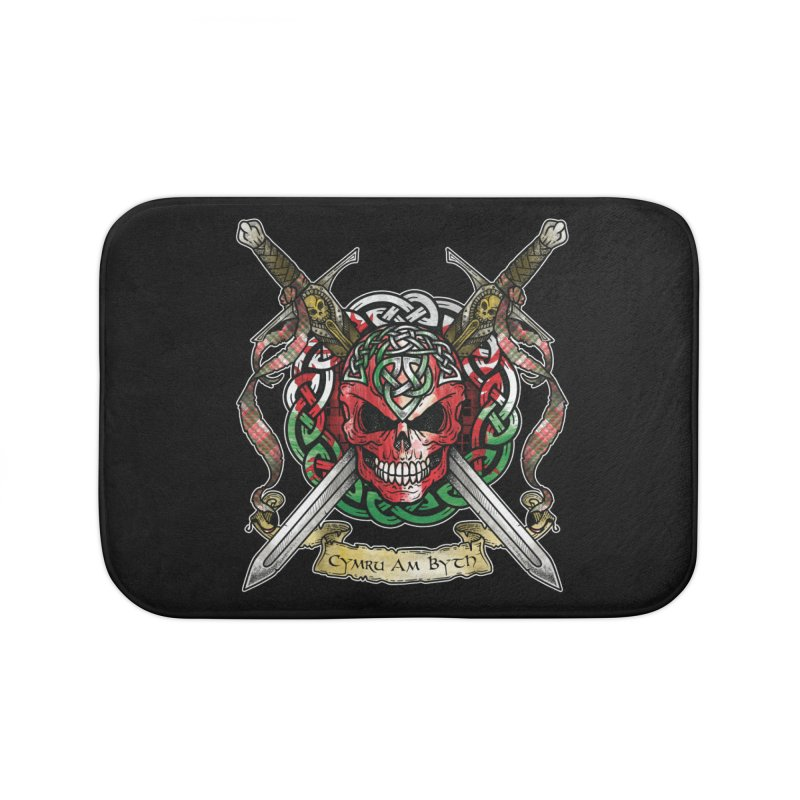 Celtic Warrior: Wales Home Bath Mat by Celtic Hammer Club