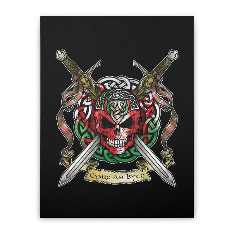 Celtic Warrior: Wales Home Stretched Canvas by Celtic Hammer Club