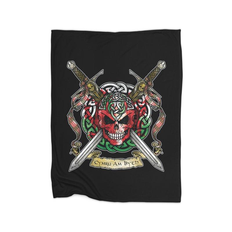 Celtic Warrior: Wales Home Fleece Blanket Blanket by Celtic Hammer Club