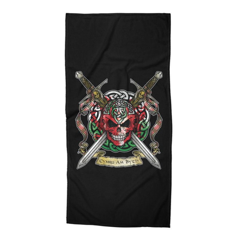 Celtic Warrior: Wales Accessories Beach Towel by Celtic Hammer Club