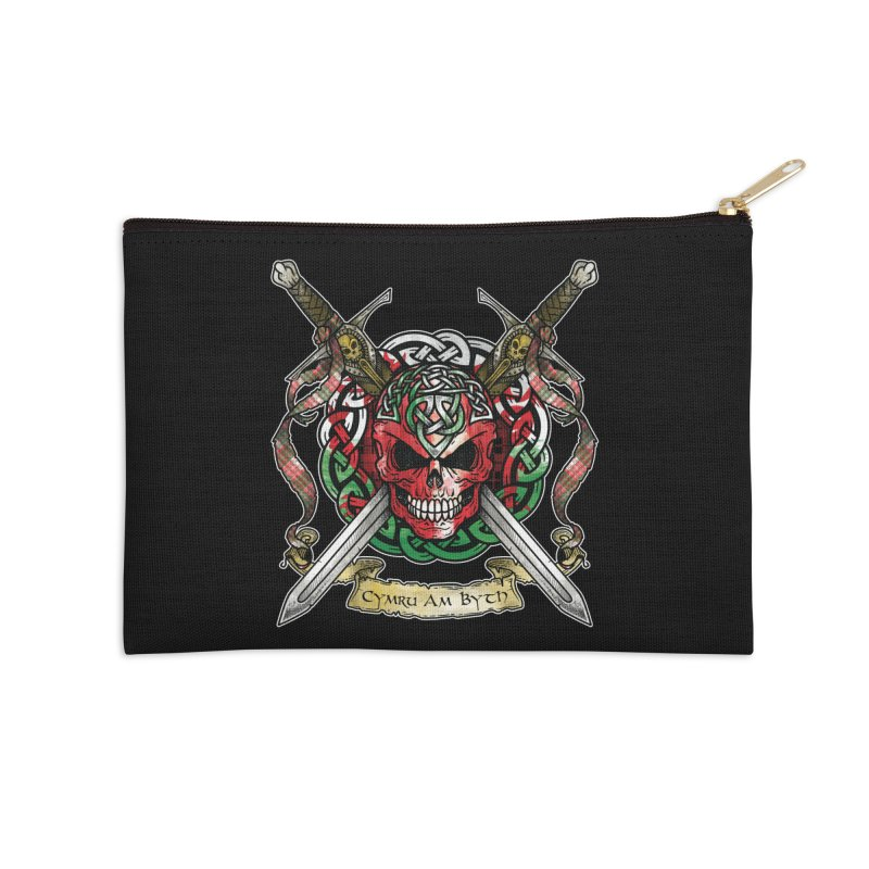 Celtic Warrior: Wales Accessories Zip Pouch by Celtic Hammer Club