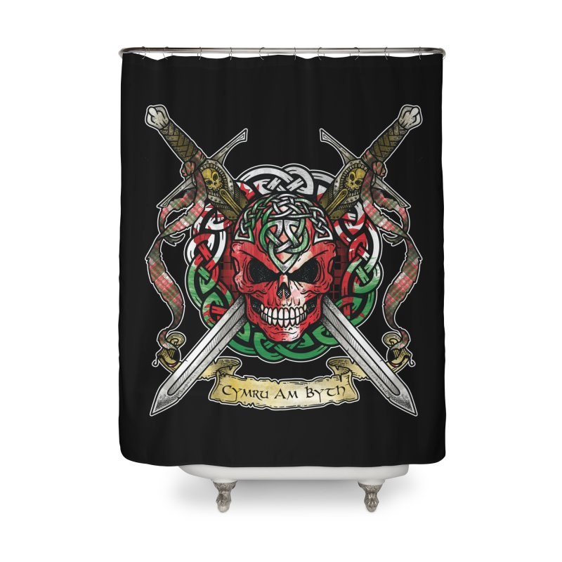 Celtic Warrior: Wales Home Shower Curtain by Celtic Hammer Club