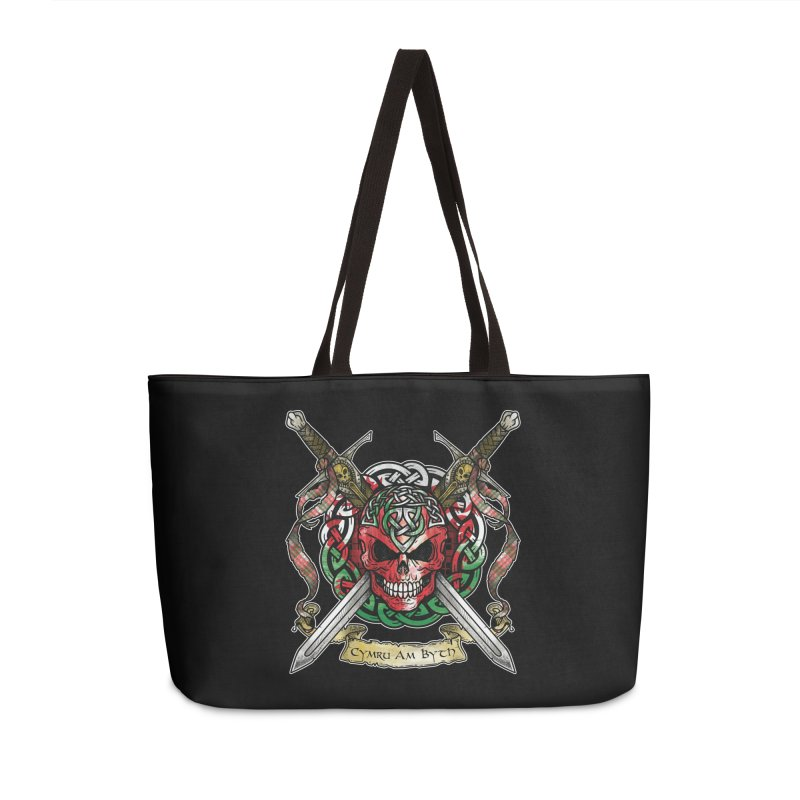 Celtic Warrior: Wales Accessories Weekender Bag Bag by Celtic Hammer Club