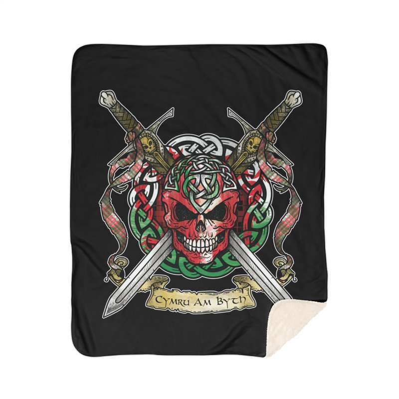 Celtic Warrior: Wales Home Sherpa Blanket Blanket by Celtic Hammer Club