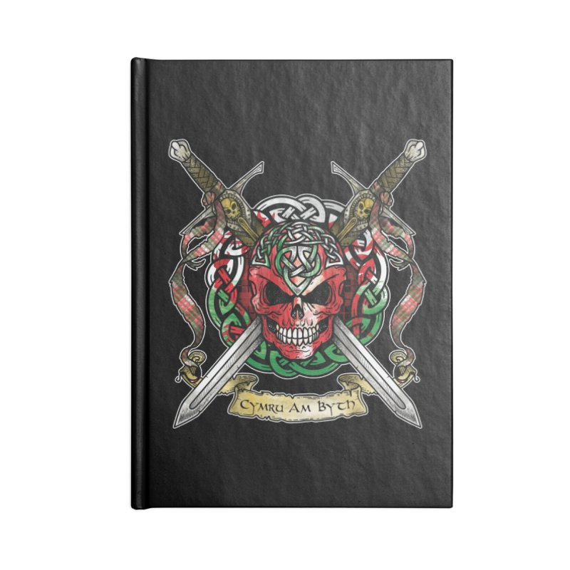Celtic Warrior: Wales Accessories Blank Journal Notebook by Celtic Hammer Club