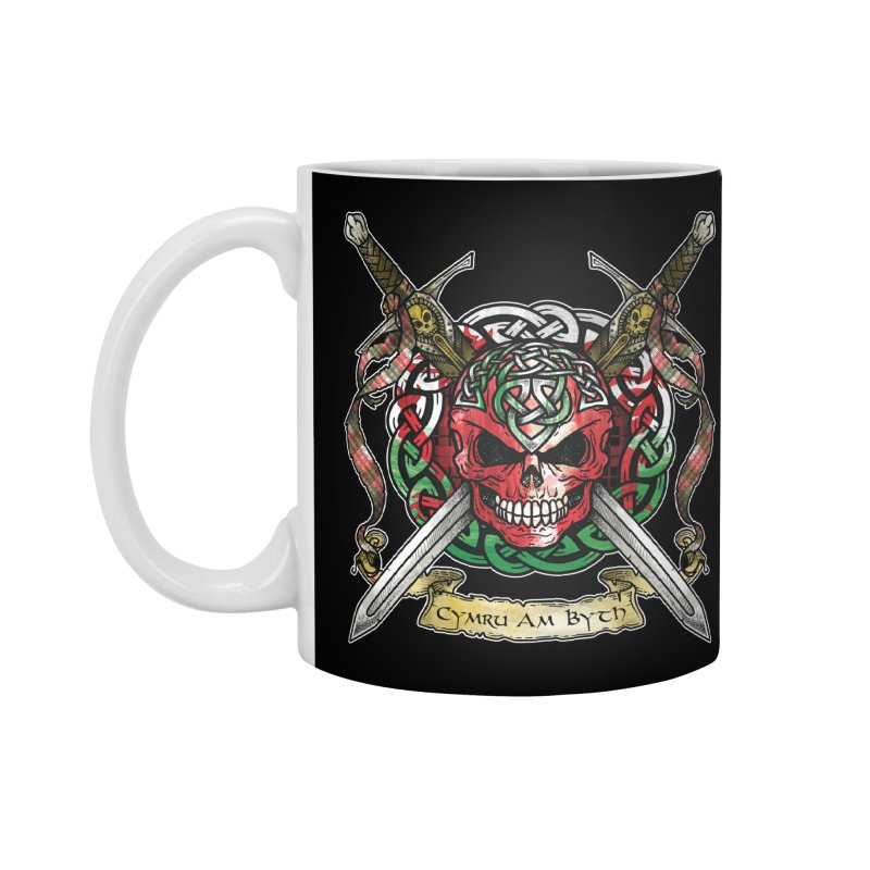 Celtic Warrior: Wales Accessories Standard Mug by Celtic Hammer Club
