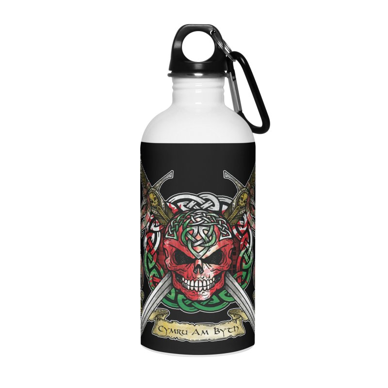 Celtic Warrior: Wales Accessories Water Bottle by Celtic Hammer Club