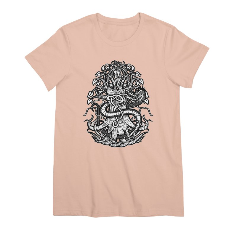 Yggdrasil Ragnarok Women's Premium T-Shirt by Celtic Hammer Club