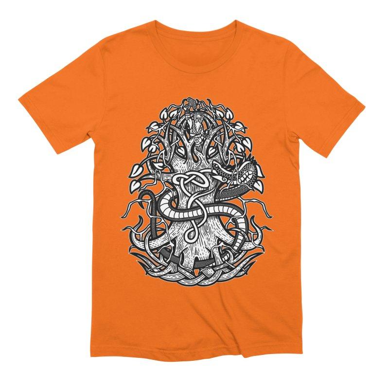 Yggdrasil Ragnarok Men's Extra Soft T-Shirt by Celtic Hammer Club
