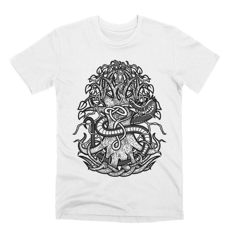 Yggdrasil Ragnarok Men's Premium T-Shirt by Celtic Hammer Club