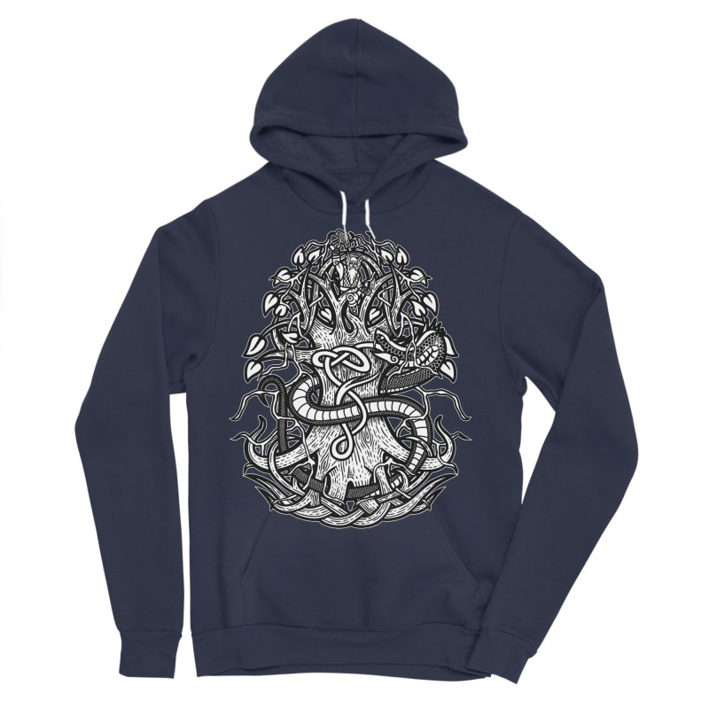Yggdrasil Ragnarok Women's Sponge Fleece Pullover Hoody by Celtic Hammer Club