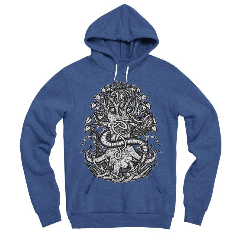 Yggdrasil Ragnarok Men's Sponge Fleece Pullover Hoody by Celtic Hammer Club