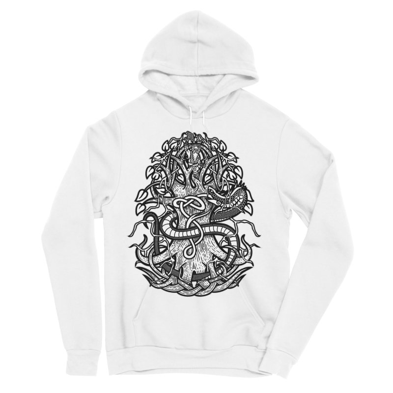 Yggdrasil Ragnarok Men's Sponge Fleece Pullover Hoody by Celtic Hammer Club
