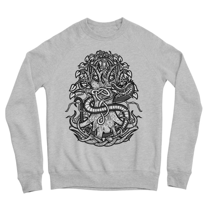 Yggdrasil Ragnarok Men's Sponge Fleece Sweatshirt by Celtic Hammer Club