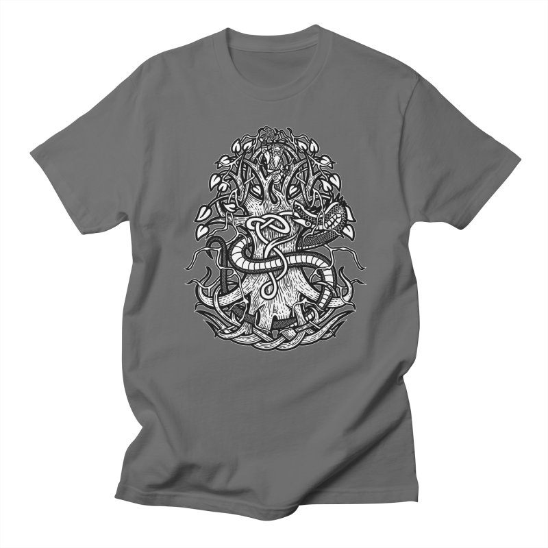 Yggdrasil Ragnarok Men's T-Shirt by Celtic Hammer Club