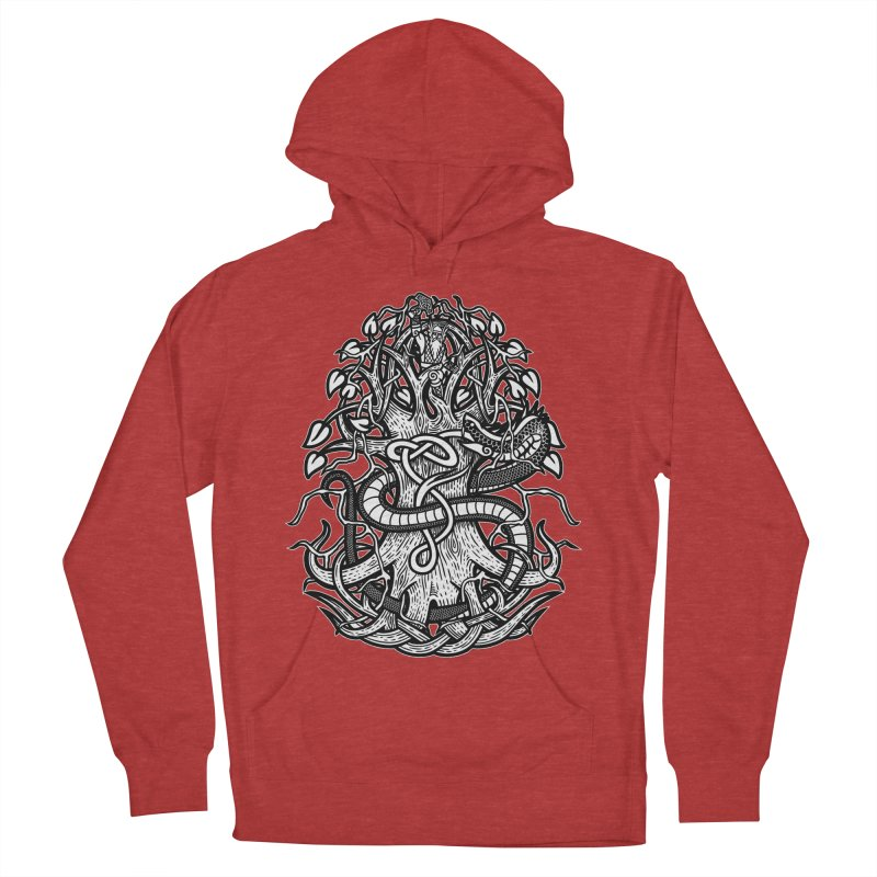 Yggdrasil Ragnarok Women's French Terry Pullover Hoody by Celtic Hammer Club