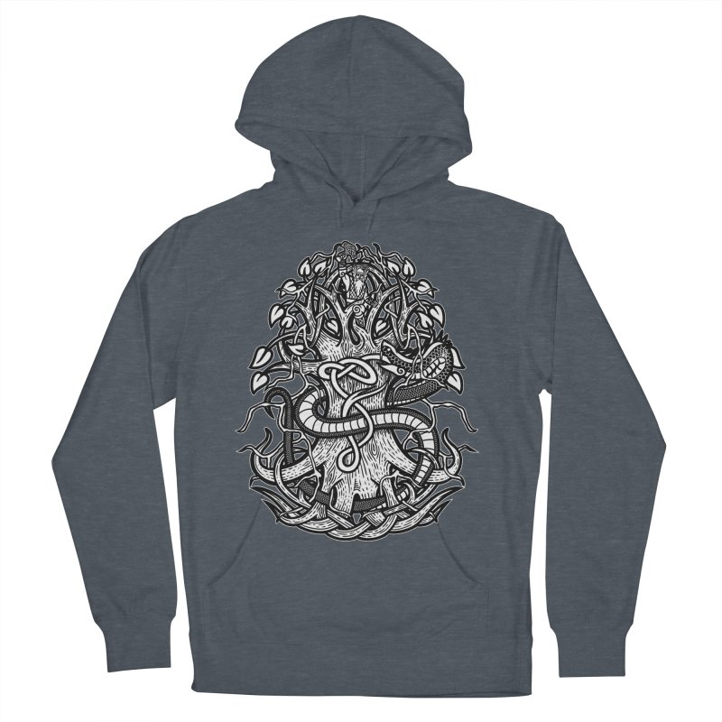 Yggdrasil Ragnarok Men's French Terry Pullover Hoody by Celtic Hammer Club