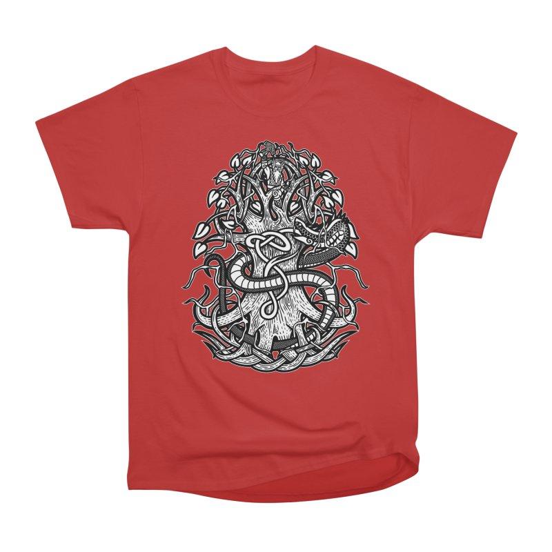 Yggdrasil Ragnarok Men's Heavyweight T-Shirt by Celtic Hammer Club