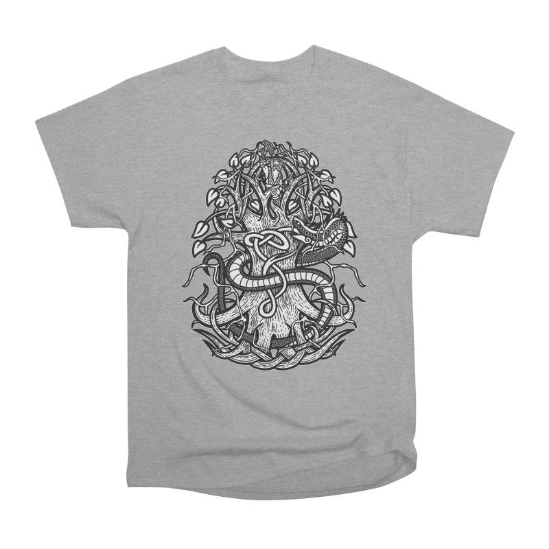Yggdrasil Ragnarok Women's Heavyweight Unisex T-Shirt by Celtic Hammer Club