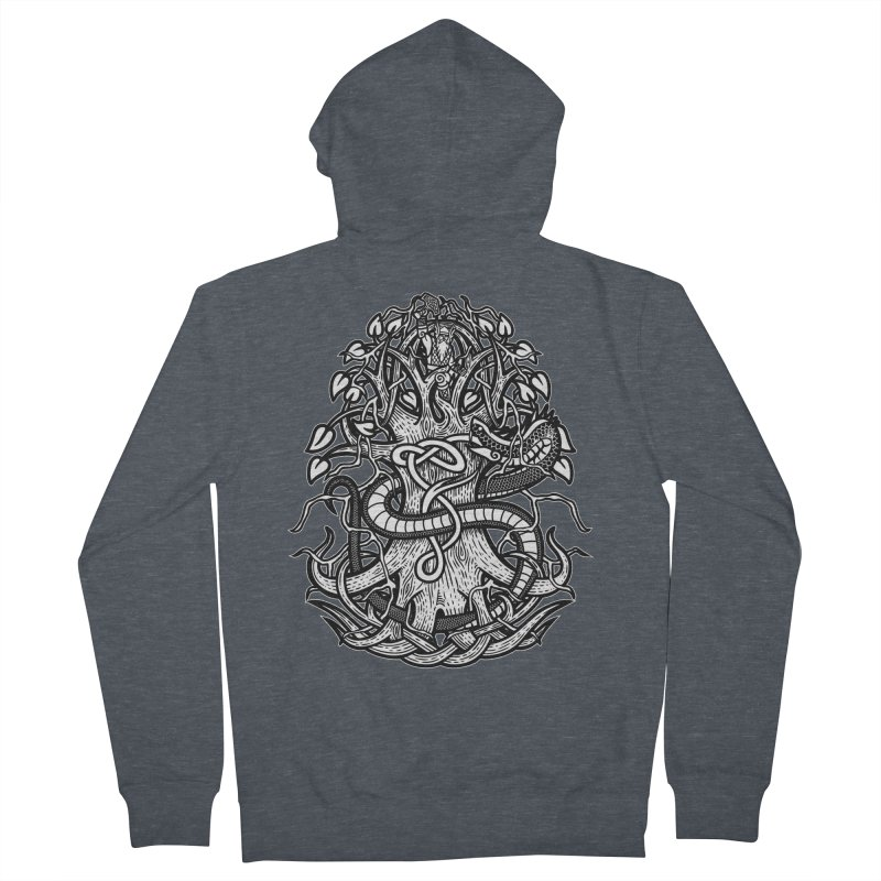 Yggdrasil Ragnarok Men's French Terry Zip-Up Hoody by Celtic Hammer Club