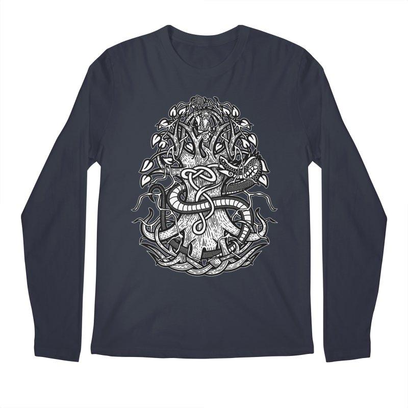 Yggdrasil Ragnarok Men's Regular Longsleeve T-Shirt by Celtic Hammer Club
