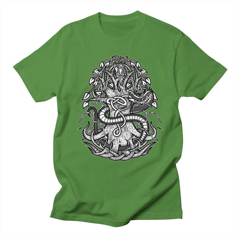 Yggdrasil Ragnarok Men's Regular T-Shirt by Celtic Hammer Club