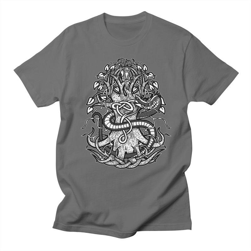 Yggdrasil Ragnarok Men's T-Shirt by Celtic Hammer Club