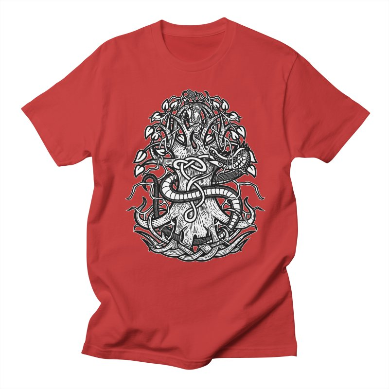Yggdrasil Ragnarok Women's Regular Unisex T-Shirt by Celtic Hammer Club
