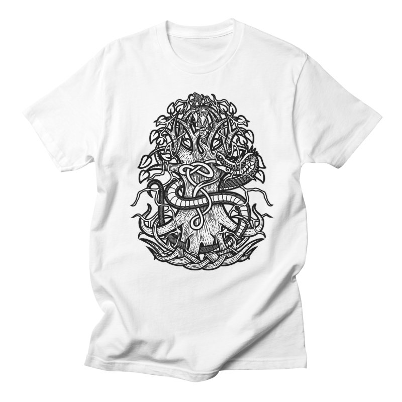Yggdrasil Ragnarok Women's Regular Unisex T-Shirt by Celtic Hammer Club