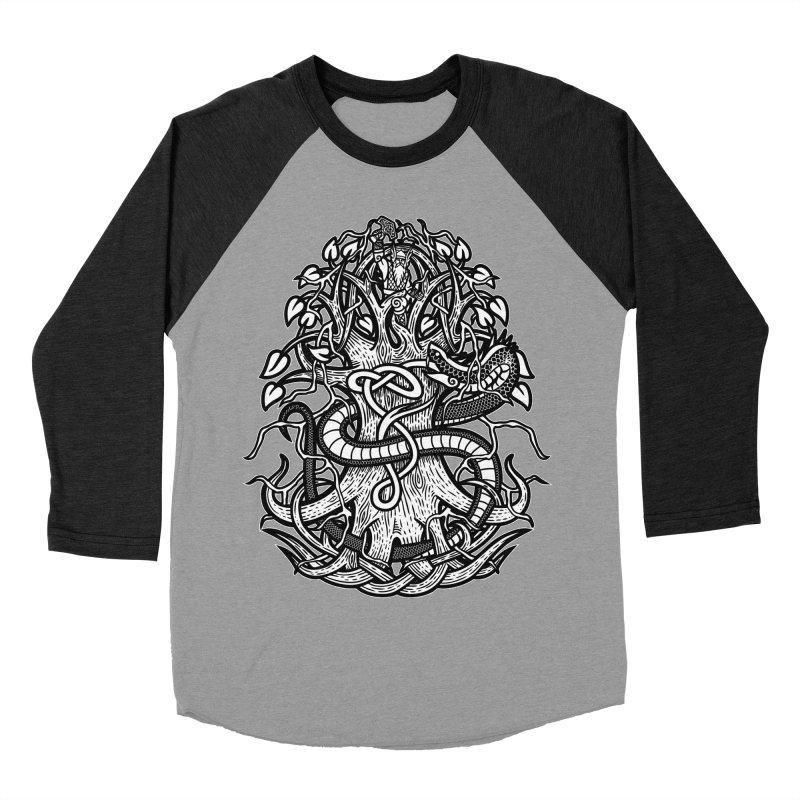 Yggdrasil Ragnarok Women's Baseball Triblend Longsleeve T-Shirt by Celtic Hammer Club