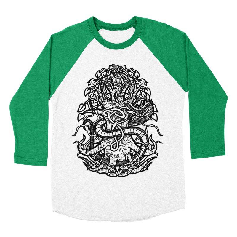 Yggdrasil Ragnarok Men's Baseball Triblend Longsleeve T-Shirt by Celtic Hammer Club