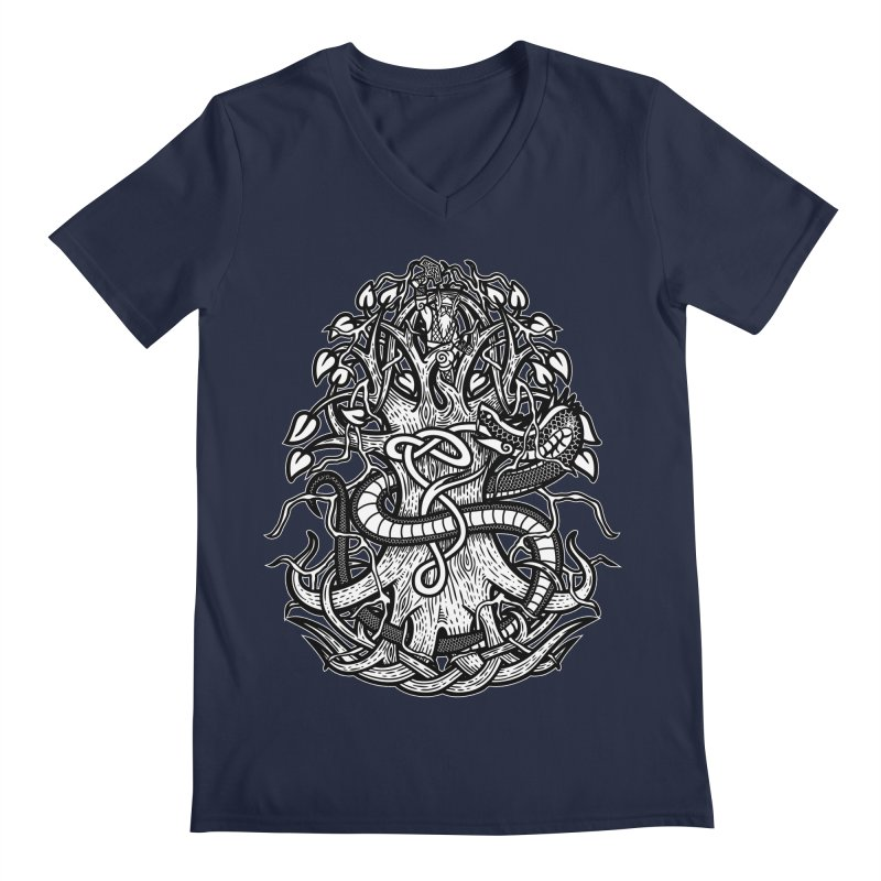 Yggdrasil Ragnarok Men's Regular V-Neck by Celtic Hammer Club