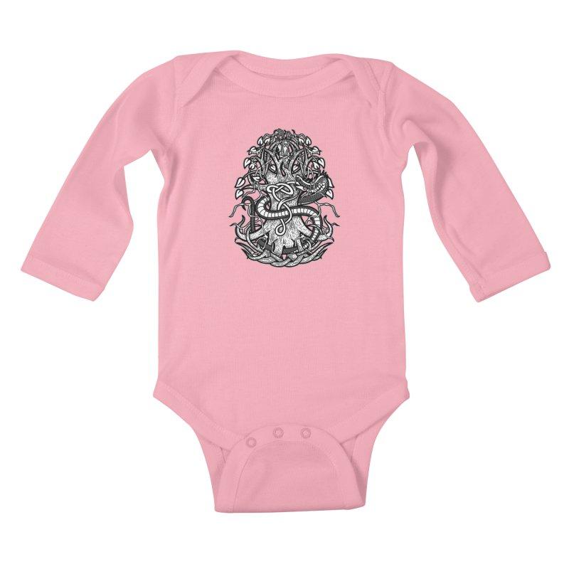 Yggdrasil Ragnarok Kids Baby Longsleeve Bodysuit by Celtic Hammer Club