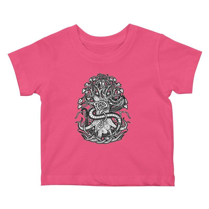 Yggdrasil Ragnarok Kids Baby T-Shirt by Celtic Hammer Club