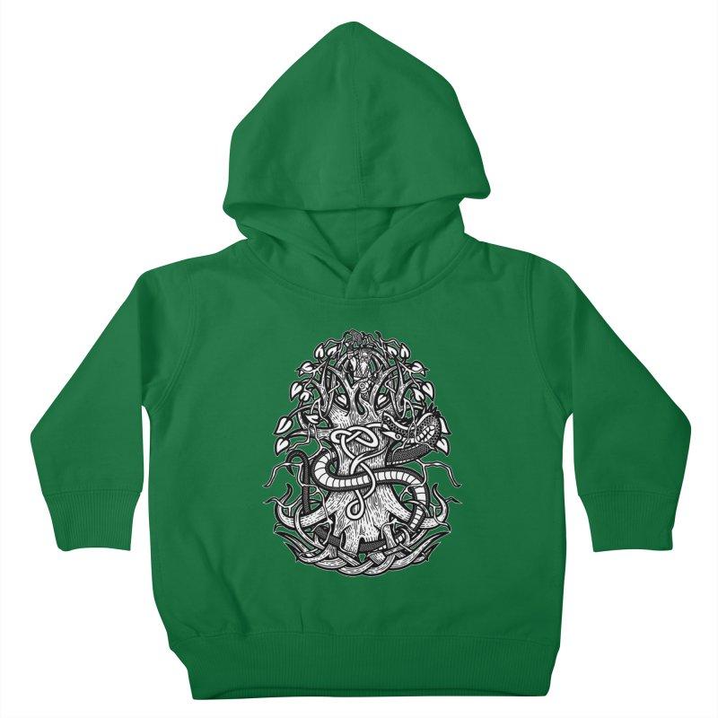 Yggdrasil Ragnarok Kids Toddler Pullover Hoody by Celtic Hammer Club