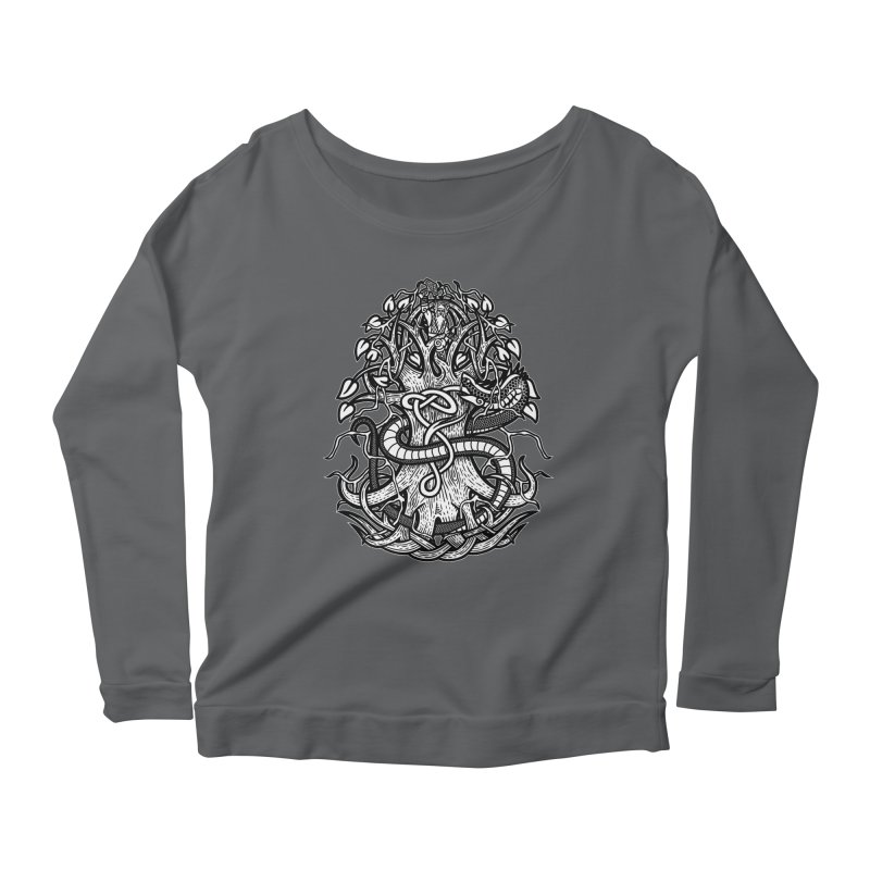 Yggdrasil Ragnarok Women's Scoop Neck Longsleeve T-Shirt by Celtic Hammer Club