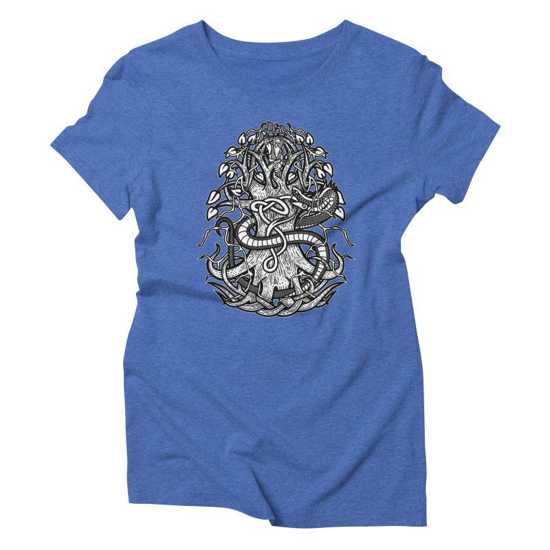 Yggdrasil Ragnarok Women's Triblend T-Shirt by Celtic Hammer Club